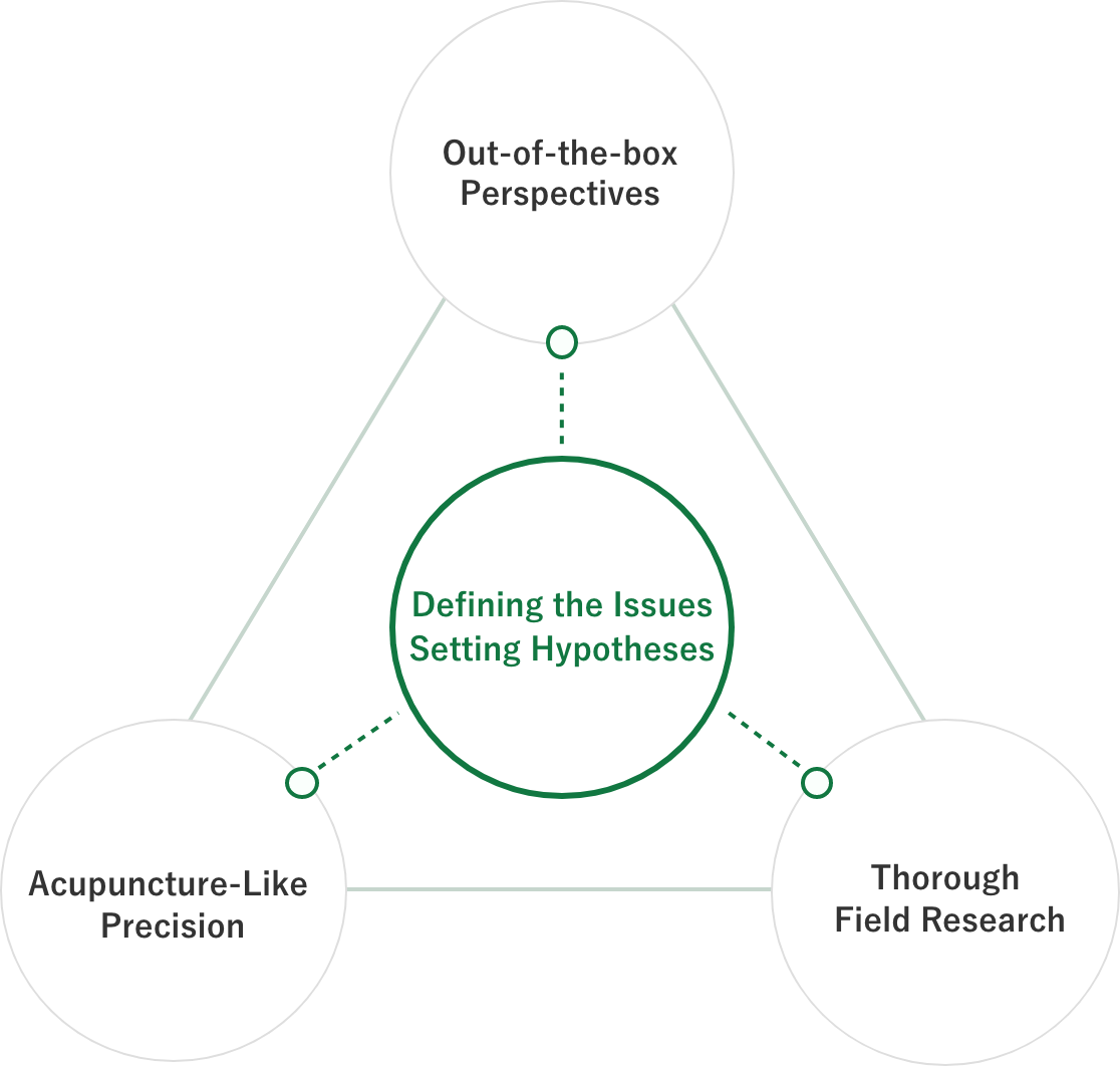 Defining the Issues Setting Hypotheses